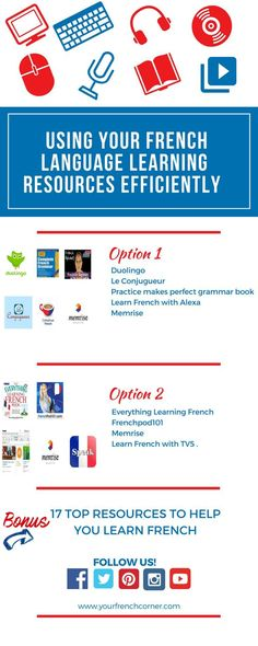17 Top resources to learn french. Get your free guide and bonus tips .#learnfrench #fle #frenchimmersion