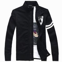 2012 resorte y la camiseta masculina de la rebeca ocasional de moda del botón del otoño colocan al varón de