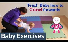 baby development How to Teach Baby to Crawl Baby Exercises Months Baby Activities Baby Baby Boys, Baby Play, Teaching Babies, Baby Learning, Teach Baby To Crawl, Baby Workout, Crawling Baby, Baby Sensory, Baby Development