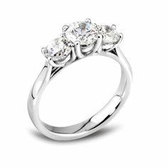 Gorgeous Trilogy diamond rings