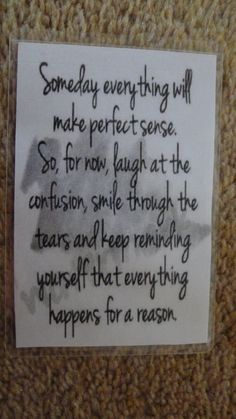 Laminated Wallet Size Inspirational Quote/Message Keepsake Cards -  Someday on Etsy, £2.50