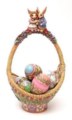 Jim Shore Easter Basket with Eggs