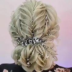 Up Hairstyles, Pretty Hairstyles, Braided Hairstyles, Hair Style Vedio, Competition Hair, Bridal Hair Buns, Hair Up Styles, Elegant Wedding Hair, Hair Videos
