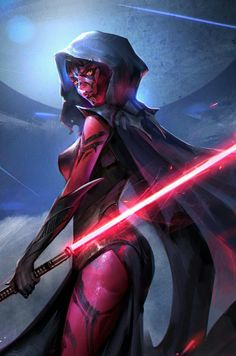 Star Wars: Daughter of Darth Maul star-wars-fan-art-daughter-of-darth-maul-by-jeremy-chong Star Wars Jedi, Star Wars Mädchen, Star Wars Girls, Star Wars Fan Art, Darth Maul, Darth Sith, Jedi Sith, Sith Lord, Sith Armor