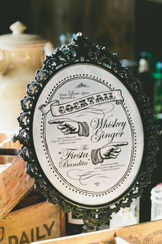 love this signature cocktail signage! // photo by onelove-photo.com