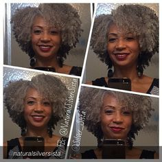myhaircrush:  Love her hair by @naturalsilversista...