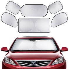 Standard 59 x 27.5 Inches Tysonir Car Windshield Sun Shade,Retractable Sun Shade,Car Sunshade to Keep Your Vehicle Cool Prevent UV Sun into The Car,Fits Windshields of Various Sizes