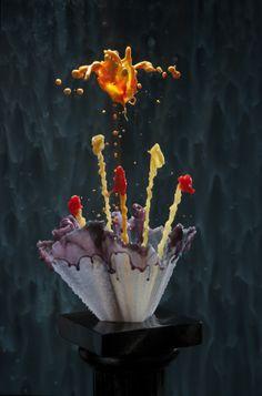 Gallery Series, Liquid Sculptures by Jack Long, via Behance