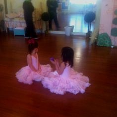 Ballerinas...Ansley and Ashleigh one day!!  Must have pic