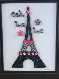 Quilled Eiffel Tower