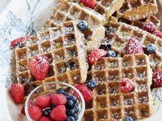 My vegan gluten-Free Lemon Blueberry Belgian Wafflesare on QueenLatifah.com!