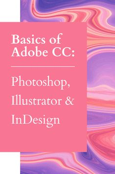 Understand & Use The Design Power Of Creative Cloud. Learn how to integrate Adobe® Photoshop®, Adobe llustrator® and Adobe InDesign® into a more streamlined and easy to follow workflow; create shapes and lines in Illustrator; manipulate images and basic color correction in Adobe Photoshop; and build multiple pages and layouts in Adobe Indesign. Learn how Adobe Creative Cloud can empower your design sensibility, work more efficiently, and save you time. | Art & Design | Design Software…