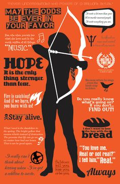 Interesting infographic by CraftGeneration depicting Katniss Everdeen and brilliant quotes from the Hunger Games triology