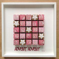 Stampin'Up Boxen, Schachteln Adventskalender im Ikea Rahmen Ribba