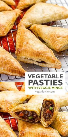 Vegetable Pasties with vegan mince, delicious savoury hand pies. Recipe with video. #vegetablepasty #pastyrecipe #pasty #veganrecipes #veganlovlie #savourypies #handpies