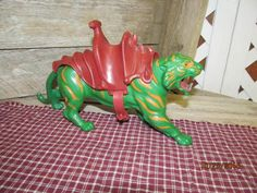 Vintage Motu Masters of the Universe Battle Cat with Saddle He-Man He Man Tiger 1981 Mattel by EvenTheKitchenSinkOH on Etsy