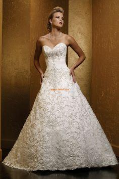 Srdíčko Jaro Bez rukávů Luxusní svatební šaty Wedding Trends 5b87715e75