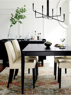 Ivory Leather Dining Room Chairs Delectable Wing Back Dining Chairs  Foter  Dining  Pinterest  Dining Design Decoration