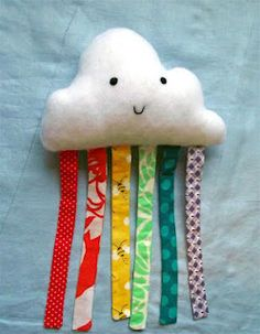 ADORABLE! Now I need some free time, sewing lessons, and a sewing machine! :)  ReFabulous... it's new again.: Happy Cloud Baby Toy Tutorial