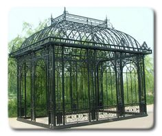 Cornwall Pavilion - Rod Iron Large Gazebo Retail: $34999.99 - Home Garden and Patio Furniture, Decor and Accents