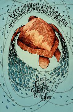 Human Harm: Posters for endangered species awareness on Illustration Served