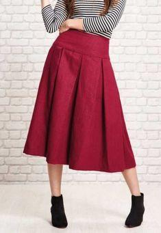 EVERYDAY SEW: ΚΟΚΚΙΝΗ ΛΙΝΗ ΦΟΥΣΤΑ ΜΕ ΠΙΕΤΕΣ Skirt Tutorial, Free Printables, Midi Skirt, Tutorials, Skirts, Pattern, Diy, Fashion, Moda