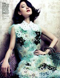 Vogue Louis Vuitton flower dress