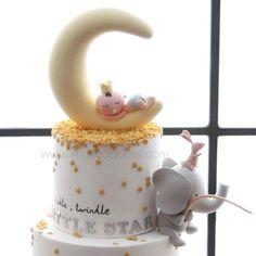 """""""Twinkle twinkle little star ⭐️ Baby Shower Cakes For Boys, Star Baby Showers, Baby Shower Parties, Baby Shower Themes, Baby Shower Decorations, Shower Ideas, Shower Bebe, Baby Boy Shower, Fondant Baby"""