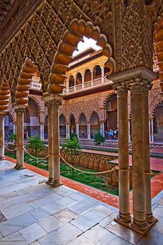 Spain Andalucia Sevilla Alcázar Jen on the Run Places Around The World, Travel Around The World, The Places Youll Go, Places To Go, Andalusia Spain, Granada Spain, Places In Spain, Voyage Europe, Islamic Architecture