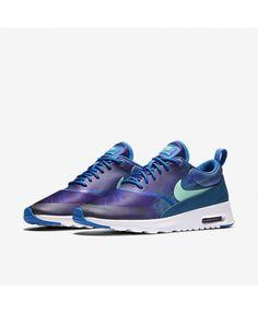 Chaussure Nike Air Max Thea Impression Bleu Étincelle Vert Abyss Vert Lueur