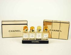 1940's Chanel Mini Perfume Set // Vintage door independencevintage, $170.00