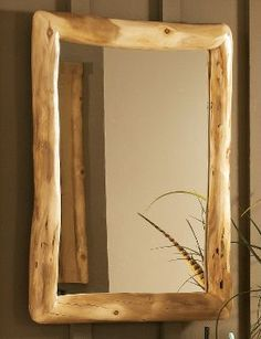 Mountain Woods Aspen Log Bath Mirror at Cabela's Log Furniture, Bathroom Furniture, Western Furniture, Furniture Design, Rustic Wood, Rustic Decor, Log Projects, Rustic Mirrors, Wood Logs