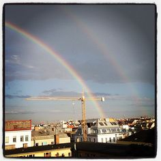 "@nacaseven's photo: ""double rainbow!"" Never Again, Rainbows, Clouds, Earth, Building, Water, Travel, Life, Gripe Water"