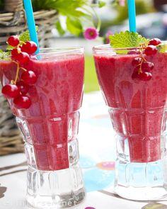 Bjørnebærsmoothie for 2 Shot Glass, Smoothie, Healthy Lifestyle, Tableware, Dinnerware, Tablewares, Smoothies, Healthy Living, Dishes