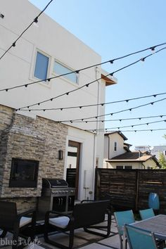 How To Hang String Lights On Covered Patio Captivating Bright July Diy Outdoor String Lightsuse Conduit Piping Set In Design Decoration