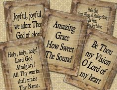 The Old Hymns - Oh how I love them!
