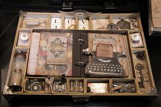 Love this configuration box!!!!  I want one!!!! Shadow Frame, Shadow Box Art, Altered Boxes, Altered Art, Paper Art, Paper Crafts, Display Boxes, Art Boxes, Scrapbooking