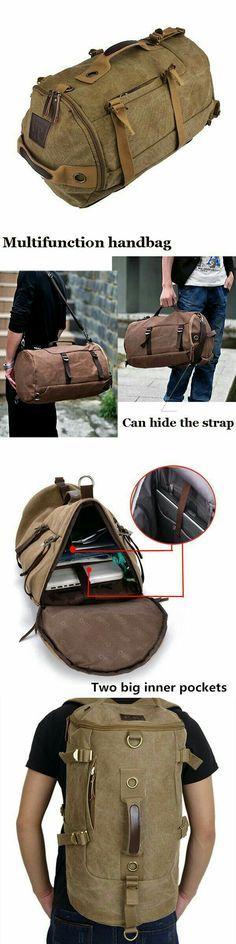 High-Grade Men's Luggage Bag, Shoulder Bag, Canvas Travel Backpack, Handbag L3006