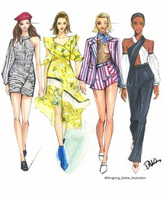 Rongrong DeVoe fashion sketches-Self Portrait SS18 New York Fashion Week.JPG #fashionsketches,