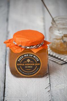 Apfel-Ingwer-Gelee mit Vanille und Zimt