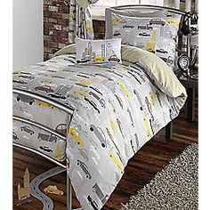 Boy s Single Duvet Cover Bed Set Grey Yellow Boys Bedding Metropolis Cars Trucks Cheap Bedding Sets, Cheap Bed Sheets, Luxury Bedding Sets, Double Duvet Covers, Single Duvet Cover, Duvet Cover Sets, Bed Sheets Online, Bedding Sets Online, Bedroom Themes
