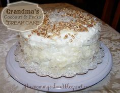 Coconut and Pecan Dream Cake! Recipe and instructions for this scrumptious cake at The Mommy Island!