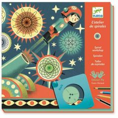 Djeco Spiral Art Gwen the Scientist's Lab Arts and crafts for kids. UK specialist supplier of contemporary creative toys and kids gifts.