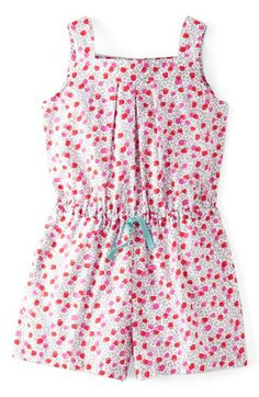 Mini Boden 'Pretty' Romper (Toddler Girls, Little Girls & Big Girls) available at Más Kids Outfits Girls, Girl Outfits, Girls Dresses, Cute Outfits, Baby Girl Fashion, Kids Fashion, Cute Rompers, Mini Boden, Nordstrom