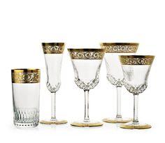 K--Saint-Louis Thistle Gold Ultimate Luxury Glassware