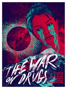 The War On Drugs + White Laces gig poster by Austin Dunbar