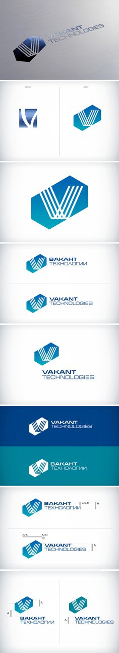 Re-design Redesign the corporate logo for the construction company Vakant Technology. Редизайн корпоративного знака для строительной компании «Вакант Технологии».