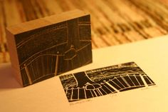 Wood block printmaking,via  instructables