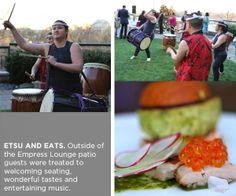ETSU AND EATS. Outside of the Empress Lounge patio guests were treated to welcoming seating, wonderful tastes and entertaining music.