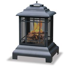 @Overstock - This 40.5-inch high black firehouse has an easy-open door for convenient tending of your fire. You can gather around the unit because it offers a 360-degree view of the fire, and a heavy steel log grate is also included.http://www.overstock.com/Home-Garden/Blue-Rhino-360-degree-Large-Black-Firehouse/7011545/product.html?CID=214117 $125.99